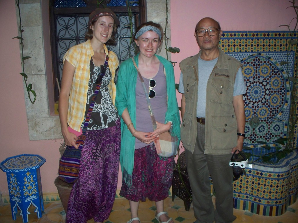 two girls and a chinese man morocco travel lindsay does languages blog